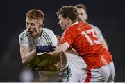 19 October 2019; David McBrien of Ballaghaderreen in action against Noel Geraghty of Ballintubber during the Mayo County Senior Club Football Championship Final match between Ballaghaderreen and Ballintubber at Elvery's MacHale Park in Castlebar, Mayo. Photo by Harry Murphy/Sportsfile
