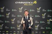 19 October 2019; Rhys McClenaghan in attendance at the 2019 Gymnastics Ireland National Awards in partnership with Marsh Ireland, where he was named the Gymnast of the Year. Only last weekend McClenaghan made history by securing Irelands first podium finish at a World Gymnastics Championships by hitting bronze on pommel in Stuttgart in an historic day for Ireland. The night saw an array of gymnastic stars, VIPs and over 200 guests celebrating another huge year for the sport at the Radisson Blu, Golden Lane in Dublin.  Photo by Noel Perena / Gymnastics Ireland via Sportsfile