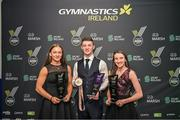 19th Oct 2019; Rhys McClenaghan was named the Gymnast of the Year tonight at the 2019 Gymnastics Ireland National Awards in partnership with Marsh Ireland. Only last weekend McClenaghan made history by securing Irelands first podium finish at a World Gymnastics Championships by hitting bronze on pommel in Stuttgart in an historic day for Ireland. Other winners of the night included the 2019 Rising Star Jane Heffernan, right and Meg Ryan, left, Ireland's first World Cup medallists in the Women's Artistic discipline.  Photo by Noel Perena via Sportsfile