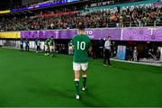 19 October 2019; Jonathan Sexton of Ireland leaves the pitch after the 2019 Rugby World Cup Quarter-Final match between New Zealand and Ireland at the Tokyo Stadium in Chofu, Japan. Photo by Brendan Moran/Sportsfile