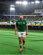 19 October 2019; Ireland captain Rory Best makes his way to meet his family after the 2019 Rugby World Cup Quarter-Final match between New Zealand and Ireland at the Tokyo Stadium in Chofu, Japan. Photo by Brendan Moran/Sportsfile