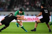 19 October 2019; Garry Ringrose of Ireland is tackled by Sam Cane of New Zealand during the 2019 Rugby World Cup Quarter-Final match between New Zealand and Ireland at the Tokyo Stadium in Chofu, Japan. Photo by Ramsey Cardy/Sportsfile
