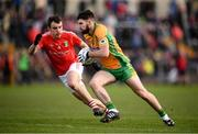 20 October 2019; Martin Farragher of Corofin in action against Brian O'Driscoll of Tuam Stars during the Galway County Senior Club Football Championship Final match between Corofin and Tuam Stars at Tuam Stadium in Galway. Photo by Stephen McCarthy/Sportsfile