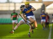 20 October 2019; Matthew Maloney of St. Rynagh's in action against Morgan Watkins of Birr during the Offaly County Senior Club Hurling Championship Final match between Birr and St Rynaghs at O'Connor Park in Tullamore, Offaly. Photo by Harry Murphy/Sportsfile