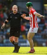 20 October 2019; Seamus Harnedy of Imokilly protests to referee Nathan Wall during the Cork County Senior Club Hurling Championship Final match between Glen Rovers and Imokilly at Pairc Ui Rinn in Cork. Photo by Eóin Noonan/Sportsfile