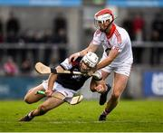 20 October 2019; Darragh O'Connell of Cuala in action against Keith Mullally of St Brigids during the Dublin County Senior Club Hurling Campionship Final match between Cuala and St Brigids GAA at Parnell Park in Dublin. Photo by Ray McManus/Sportsfile