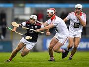 20 October 2019; Darragh O'Connell of Cuala in action against Keith Mullally and Donnacha Ryan of St Brigids, right, during the Dublin County Senior Club Hurling Campionship Final match between Cuala and St Brigids GAA at Parnell Park in Dublin. Photo by Ray McManus/Sportsfile