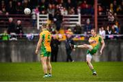 20 October 2019; Gary Sice of Corofin kicks his side's equalising point, a free, late in the Galway County Senior Club Football Championship Final match between Corofin and Tuam Stars at Tuam Stadium in Galway. Photo by Stephen McCarthy/Sportsfile