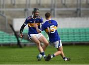 20 October 2019; Ben Conneely and Aaron Kenny of St. Rynagh's celebrate at the full-time whistle following the Offaly County Senior Club Hurling Championship Final match between Birr and St Rynaghs at O'Connor Park in Tullamore, Offaly. Photo by Harry Murphy/Sportsfile