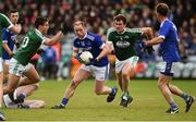 20 October 2019; Anthony Thompson of Naomh Conaill in action against Ciaran Gillespie and Eamonn McGee of Gaoth Dobhair during the Donegal County Senior Club Football Championship Final match between Gaoth Dobhair and Naomh Conaill at Mac Cumhaill Park in Ballybofey, Donegal. Photo by Oliver McVeigh/Sportsfile