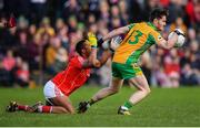 20 October 2019; Ian Burke of Corofin in action against Brendan Mashengele of Tuam Stars during the Galway County Senior Club Football Championship Final match between Corofin and Tuam Stars at Tuam Stadium in Galway. Photo by Stephen McCarthy/Sportsfile