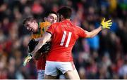 20 October 2019; Gary Sice of Corofin in action against Aonghus Tierney and Seamus Kelly, 11, of Tuam Stars during the Galway County Senior Club Football Championship Final match between Corofin and Tuam Stars at Tuam Stadium in Galway. Photo by Stephen McCarthy/Sportsfile