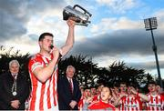 20 October 2019; Seamus Harnedy of Imokilly lifting the cup following the Cork County Senior Club Hurling Championship Final match between Glen Rovers and Imokilly at Pairc Ui Rinn in Cork. Photo by Eóin Noonan/Sportsfile