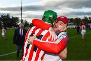 20 October 2019; Seamus Harnedy of Imokilly celebrates with Imokilly manager Fergal Condon following the Cork County Senior Club Hurling Championship Final match between Glen Rovers and Imokilly at Pairc Ui Rinn in Cork. Photo by Eóin Noonan/Sportsfile