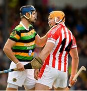 20 October 2019; Stephen McDonnell of Glen Rovers during a coming together with Declan Dalton of Imokilly during the Cork County Senior Club Hurling Championship Final match between Glen Rovers and Imokilly at Pairc Ui Rinn in Cork. Photo by Eóin Noonan/Sportsfile
