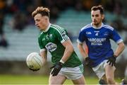 20 October 2019; Eamonn Colum of Gaoth Dobhair in action against Kevin McGettigan of Naomh Conaill during the Donegal County Senior Club Football Championship Final match between Gaoth Dobhair and Naomh Conaill at Mac Cumhaill Park in Ballybofey, Donegal. Photo by Oliver McVeigh/Sportsfile