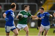 20 October 2019; Michael Carroll of Gaoth Dobhair in action against Jeaic McKelvy of Naomh Conaill during the Donegal County Senior Club Football Championship Final match between Gaoth Dobhair and Naomh Conaill at Mac Cumhaill Park in Ballybofey, Donegal. Photo by Oliver McVeigh/Sportsfile