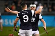 20 October 2019; David Treacy, left, and Colm Cronin of Cuala celebrate after the Dublin County Senior Club Hurling Campionship Final match between Cuala and St Brigids GAA at Parnell Park in Dublin. Photo by Ray McManus/Sportsfile