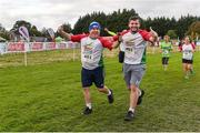 20 October 2019; Paddy Gallagher, left, and Anthony McDonagh running during the SPAR Cross Country Xperience at the National Sports Campus Abbotstown in Dublin. Photo by Sam Barnes/Sportsfile