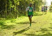 20 October 2019; Yared Derese of Carrick Aces A.C., Co. Monaghan, competing in the M35 7500m XC event during the SPAR Autumn Open International Cross Country Festival at the National Sports Campus Abbotstown in Dublin. Photo by Sam Barnes/Sportsfile