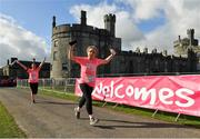 20 October 2019; Participants during the Great Pink Run with Glanbia, which took place in Kilkenny Castle Park on Sunday, October 20th 2019. Over 10,000 men, women and children took part in both the 10K challenge and the 5K fun run across three locations, raising over €600,000 to support Breast Cancer Ireland's pioneering research and awareness programmes. The Dublin Great Pink Run took place on Saturday, 19th October in the Phoenix Park and the inaugural Chicago run took place on October, 5th in Diversey Harbor. For more information go to www.breastcancerireland.com. Photo by Seb Daly/Sportsfile