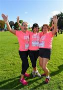 20 October 2019; Claire O'Sullivan, Catherine Buckley and Breda Skelton, from Kilkenny, ahead of the Great Pink Run with Glanbia, which took place in Kilkenny Castle Park on Sunday, October 20th 2019. Over 10,000 men, women and children took part in both the 10K challenge and the 5K fun run across three locations, raising over €600,000 to support Breast Cancer Ireland's pioneering research and awareness programmes. The Dublin Great Pink Run took place on Saturday, 19th October in the Phoenix Park and the inaugural Chicago run took place on October, 5th in Diversey Harbor. For more information go to www.breastcancerireland.com. Photo by Seb Daly/Sportsfile
