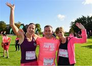 20 October 2019; Julie Drennan, Benny Hamm and Melissa Fenlon, from Ballinakill, Laois, ahead of the Great Pink Run with Glanbia, which took place in Kilkenny Castle Park on Sunday, October 20th 2019. Over 10,000 men, women and children took part in both the 10K challenge and the 5K fun run across three locations, raising over €600,000 to support Breast Cancer Ireland's pioneering research and awareness programmes. The Dublin Great Pink Run took place on Saturday, 19th October in the Phoenix Park and the inaugural Chicago run took place on October, 5th in Diversey Harbor. For more information go to www.breastcancerireland.com. Photo by Seb Daly/Sportsfile