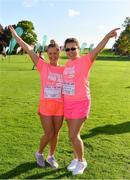20 October 2019; Liz Bowe, left, from New Ross, Wexford, and Diana Giurgi Dublin ahead of the Great Pink Run with Glanbia, which took place in Kilkenny Castle Park on Sunday, October 20th 2019. Over 10,000 men, women and children took part in both the 10K challenge and the 5K fun run across three locations, raising over €600,000 to support Breast Cancer Ireland's pioneering research and awareness programmes. The Dublin Great Pink Run took place on Saturday, 19th October in the Phoenix Park and the inaugural Chicago run took place on October, 5th in Diversey Harbor. For more information go to www.breastcancerireland.com. Photo by Seb Daly/Sportsfile