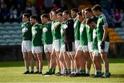 20 October 2019; The Gaoth Dobhair team stand for the anthem before the Donegal County Senior Club Football Championship Final match between Gaoth Dobhair and Naomh Conaill at Mac Cumhaill Park in Ballybofey, Donegal. Photo by Oliver McVeigh/Sportsfile