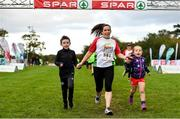 20 October 2019; Sarah Dillon, centre, running during the SPAR Cross Country Xperience at the National Sports Campus Abbotstown in Dublin. Photo by Sam Barnes/Sportsfile