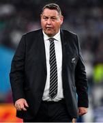 19 October 2019; New Zealand head coach Steve Hansen prior to the 2019 Rugby World Cup Quarter-Final match between New Zealand and Ireland at the Tokyo Stadium in Chofu, Japan. Photo by Brendan Moran/Sportsfile