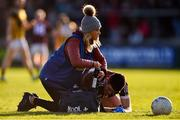 20 October 2019; Jack Grugan of Ballymacnab receives medical attention during the Armagh County Senior Club Football Championship Final match between Ballymacnab and Crossmaglen Rangers at the Athletic Grounds, Armagh. Photo by Ben McShane/Sportsfile