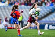 22 October 2019; Keelin Murphy of St Patrick's GNS Hollypark Blackrock in action against Belgrove Senior GNS Clontarf in the match between St Patrick's GNS Hollypark Blackrock and Belgrove Senior GNS Clontarf during day one of the Allianz Cumann na mBunscol finals at Croke Park in Dublin. Photo by Matt Browne/Sportsfile