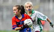 22 October 2019; Clara Woods of Belgrove Senior GNS Clontarf in action against St Patrick's GNS Hollypark Blackrock in the match between St Patrick's GNS Hollypark Blackrock and Belgrove Senior GNS Clontarf during day one of the Allianz Cumann na mBunscol finals at Croke Park in Dublin. Photo by Matt Browne/Sportsfile