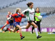 22 October 2019; Tara Walsh of St Patrick's GNS Hollypark Blackrock in action against Amelia McKay of Belgrove Senior GNS Clontarf in the match between St Patrick's GNS Hollypark Blackrock and Belgrove Senior GNS Clontarf during day one of the Allianz Cumann na mBunscol finals at Croke Park in Dublin. Photo by Matt Browne/Sportsfile