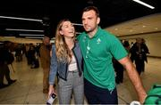 22 October 2019; Tadhg Beirne with his sister Alannah on the Ireland Rugby Team's return at Dublin Airport from the Rugby World Cup. Photo by David Fitzgerald/Sportsfile