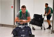 22 October 2019; Peter O'Mahony on the Ireland Rugby Team's return at Dublin Airport from the Rugby World Cup. Photo by David Fitzgerald/Sportsfile