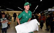 22 October 2019; Jonathan Sexton on the Ireland Rugby Team's return at Dublin Airport from the Rugby World Cup. Photo by David Fitzgerald/Sportsfile