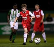 23 October 2019; Matthew O'Hara of St Patrick's Athletic during the SSE Airtricity U13 League Final between Bray Wanderers and St Patrick's Athletic at Carlisle Grounds in Bray, Co Wicklow. Photo by Stephen McCarthy/Sportsfile