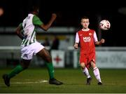 23 October 2019; Seán Hayden of St Patrick's Athletic during the SSE Airtricity U13 League Final between Bray Wanderers and St Patrick's Athletic at Carlisle Grounds in Bray, Co Wicklow. Photo by Stephen McCarthy/Sportsfile