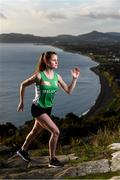 """24 October 2019; Athlete Ciara Mageean at the launch of Circle K's """"Here for Ireland"""" initiative, at Killiney Hill Park. From today, Circle K customers can use the Circle K app or their loyalty tag in-store to generate digital coins that Olympic and Paralympic hopefuls can use to fuel their journey to the Tokyo 2020 Games. To support Ireland's athletes, simply download the Circle K app today. Photo by Stephen McCarthy/Sportsfile"""