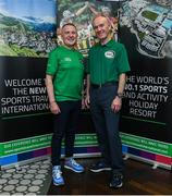 24 October 2019; From small beginnings to a big future. A celebration to the future of Sports Travel International. Chris Bird, CEO of Sports Travel International, left, and Martin Joyce, Tour Director of Sports Travel International, during the Sports Travel International launch celebration at the Conrad Hotel in Dublin. Photo by Matt Browne/Sportsfile