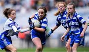23 October 2019; Jane Moran of Bishop Galvin NS, Templeogue, in action against Gaelscoil Thaobh na Coille, An Chéim, in the Corn Austin Finn Shield Final during day two of the Allianz Cumann na mBunscol Finals at Croke Park in Dublin. Photo by Piaras Ó Mídheach/Sportsfile
