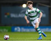 24 October 2019; Kevin Zefi of Shamrock Rovers during the SSE Airtricity Under-15 League Final match between Shamrock Rovers and St. Patrick's Athletic at Tallaght Stadium in Dublin. Photo by Eóin Noonan/Sportsfile