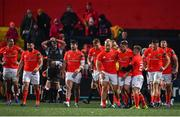 25 October 2019;  Munster players celebrate after their fourth try during the Guinness PRO14 Round 4 match between Munster and Ospreys at Irish Independent Park in Cork. Photo by Sam Barnes/Sportsfile