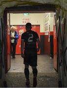 25 October 2019; Derek Pender of Bohemians walks down the tunnel following the SSE Airtricity League Premier Division match between Bohemians and Sligo Rovers at Dalymount Park in Dublin. Photo by Harry Murphy/Sportsfile