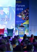 26 October 2019; Diarmuid Cahill Chairperson of the GAA National Youth Committee at the #GAAyouth Forum 2019 at Croke Park in Dublin. Photo by Matt Browne/Sportsfile