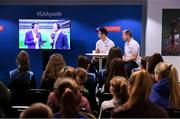 26 October 2019; Sky Sports GAA presenter Jamesie O'Connor and Rory O'Connor at the #GAAyouth Forum 2019 at Croke Park in Dublin. Photo by Matt Browne/Sportsfile