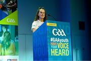 26 October 2019; Louise Coen from Co Galway at the #GAAyouth Forum 2019 at Croke Park in Dublin. Photo by Matt Browne/Sportsfile