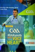 26 October 2019; Sky Sports GAA presenter Damian Lawlor at the #GAAyouth Forum 2019 at Croke Park in Dublin. Photo by Matt Browne/Sportsfile